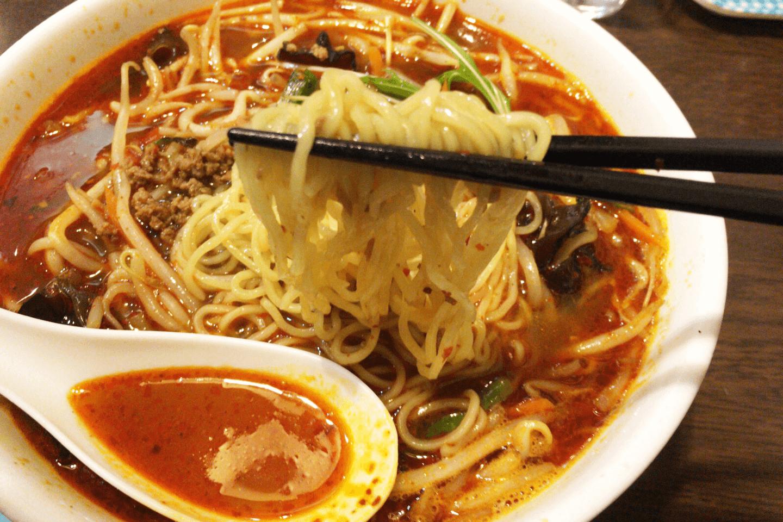 台湾マーラーラーメン_麺