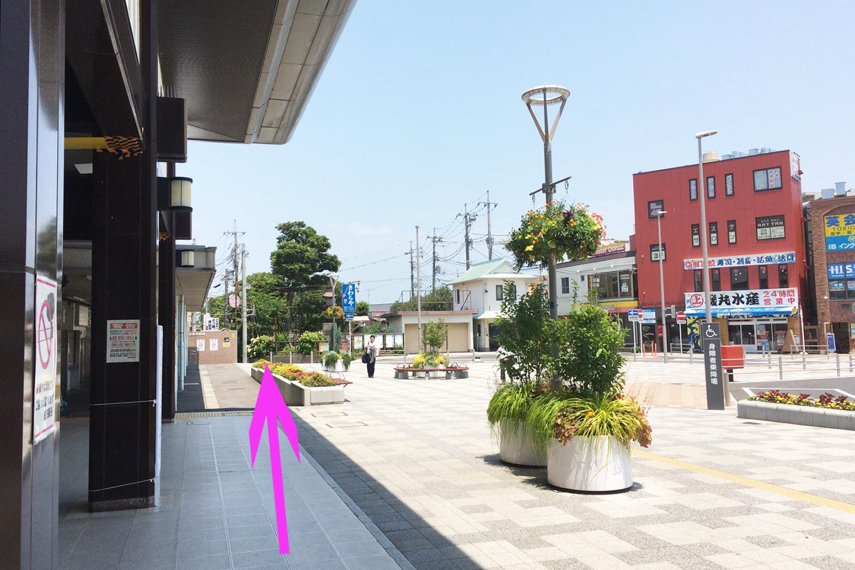 JR成田駅前