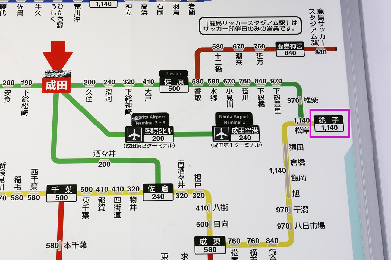 成田線 路線図